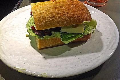 Caprese Bacon Ciabatta Sandwich 8