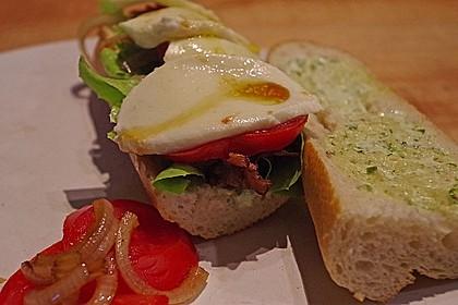 Caprese Bacon Ciabatta Sandwich 3