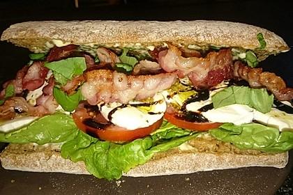 Caprese Bacon Ciabatta Sandwich 18