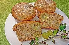 Stachelbeer - Marzipan - Muffins