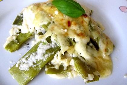 Italienischer Bohnen - Käse - Auflauf