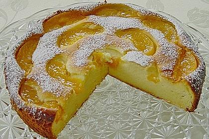 Quarkkuchen mit Pfirsich 1