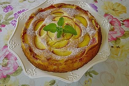 Quarkkuchen mit Pfirsich 3
