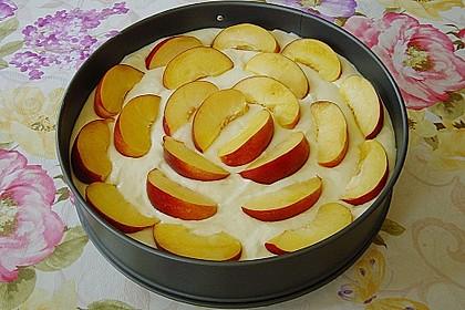 Quarkkuchen mit Pfirsich 11