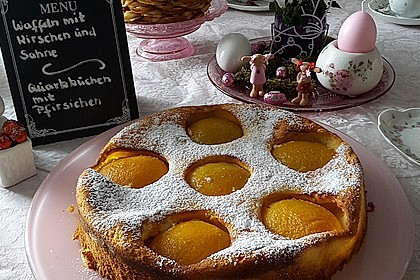 Quarkkuchen mit Pfirsich 2
