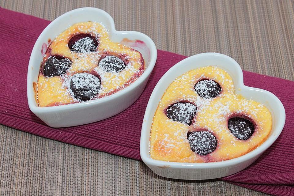 polenta quark auflauf mit kirschen rezept mit bild. Black Bedroom Furniture Sets. Home Design Ideas