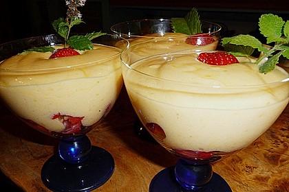 Sabayon mit Weißwein auf Erdbeeren 2