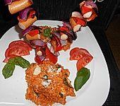 Tomaten - Basilikum - Risotto mit Mozzarella