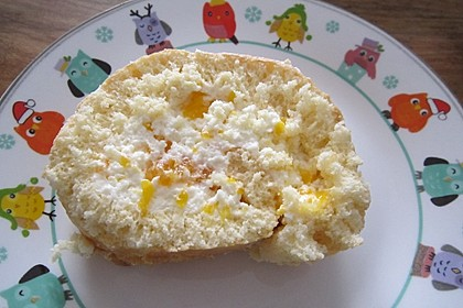Mandarinenquark - Biskuitrolle (Bild)