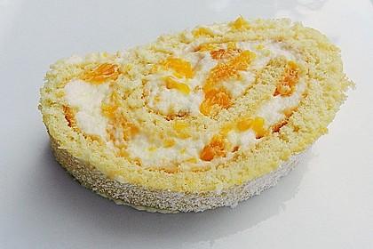 Mandarinenquark - Biskuitrolle