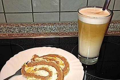 Mandarinenquark - Biskuitrolle 16