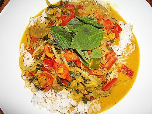 Rindfleischcurry mit Thai - Basilikum 1