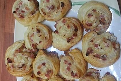 Mini - Pizzaschnecken aus Blätterteig 4