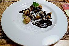 Bananen Tempura mit flüssiger Schokolade
