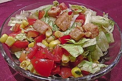 Erdnussbutter - Hähnchen mit buntem Salat 3