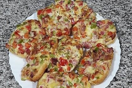 Paprika - Schmand - Brötchen überbacken, schnell und lecker 3