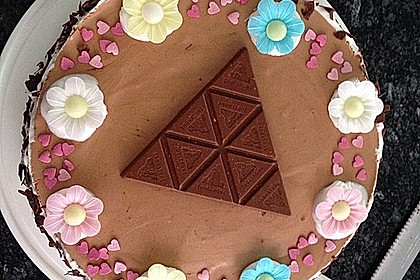 Schweizerische Toblerone - Mousse - Torte 4