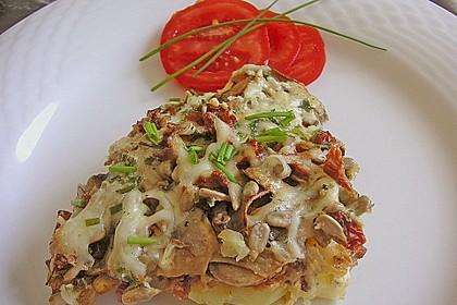 Kartoffeltorte mit Pilzen