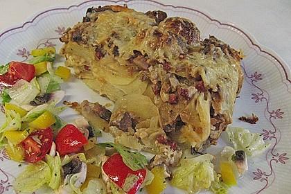 Kartoffeltorte mit Pilzen 5