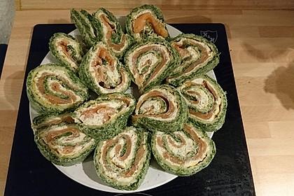 Lachsrolle mit Spinat 15