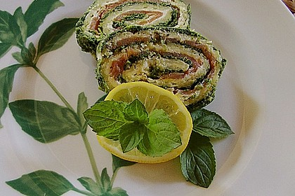 Lachsrolle mit Spinat 9