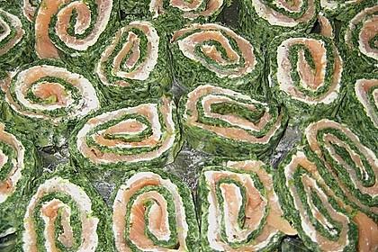 Lachsrolle mit Spinat 35