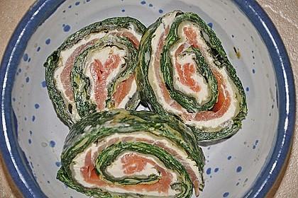 Lachsrolle mit Spinat 22