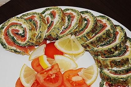 Lachsrolle mit Spinat 12