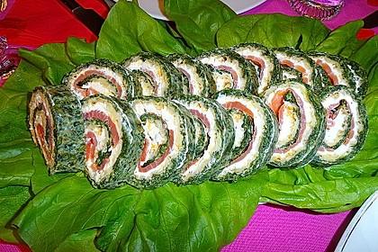 Lachsrolle mit Spinat 16