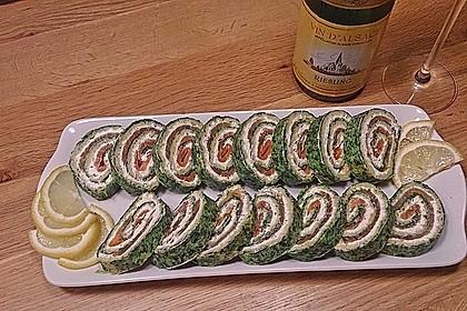 Lachsrolle mit Spinat 20