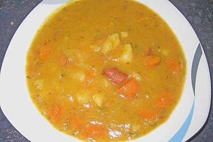 Kartoffel - Karotten - Eintopf mit Minisalami 1
