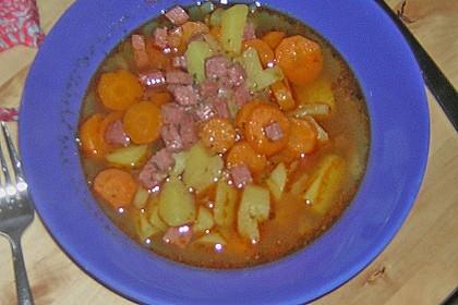 Kartoffel - Karotten - Eintopf mit Minisalami 2