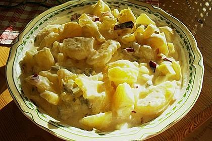 Kartoffelsalat mit delikatem Cremedressing