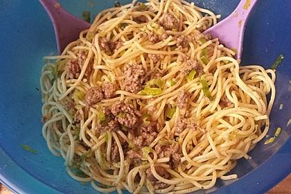 Spaghettisalat, mal anders