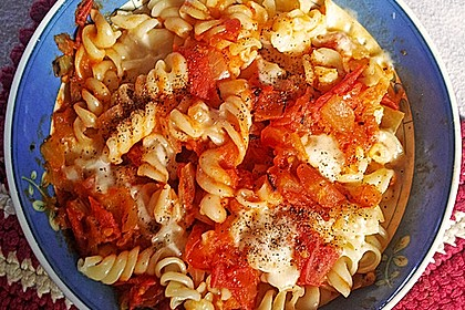 Schnelle Tomaten - Mozzarella - Sauce 4