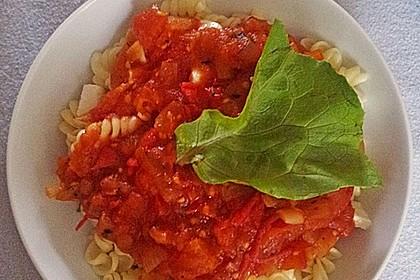 Schnelle Tomaten - Mozzarella - Sauce 8