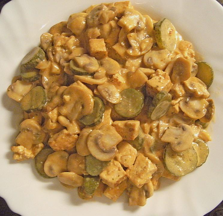 Tofu And Mushroom Stroganoff Recipe — Dishmaps