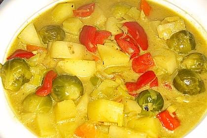 Gemüseeintopf mit Kokosmilch 13