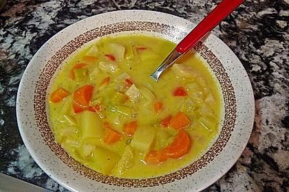 Gemüseeintopf mit Kokosmilch 9