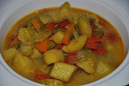 Gemüseeintopf mit Kokosmilch 35