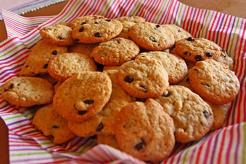 american style chocolate chip cookies mit haferflocken rezepte suchen. Black Bedroom Furniture Sets. Home Design Ideas