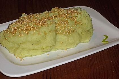 Kartoffelpüree mit Wasabi & Sesam 4