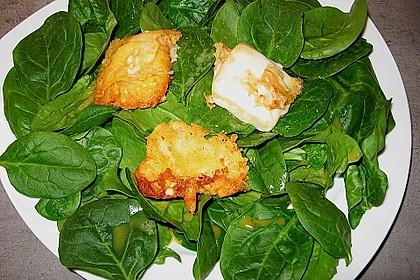 spinat salat mit gebratenem ziegenk se von babse. Black Bedroom Furniture Sets. Home Design Ideas