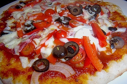 Pizzateig, mit wenig Hefe 8