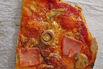 Pizzateig, mit wenig Hefe 35