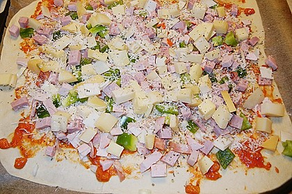 Pizzateig, mit wenig Hefe 42