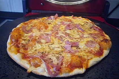 Pizzateig, mit wenig Hefe 34