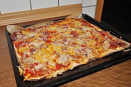 Pizzateig, mit wenig Hefe 16