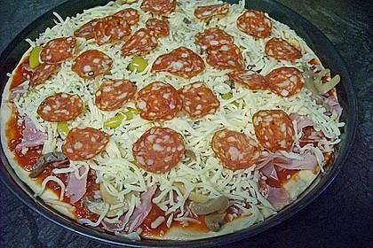 Pizzateig, mit wenig Hefe 4