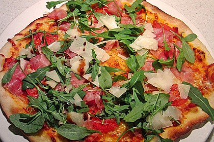 Pizzateig, mit wenig Hefe